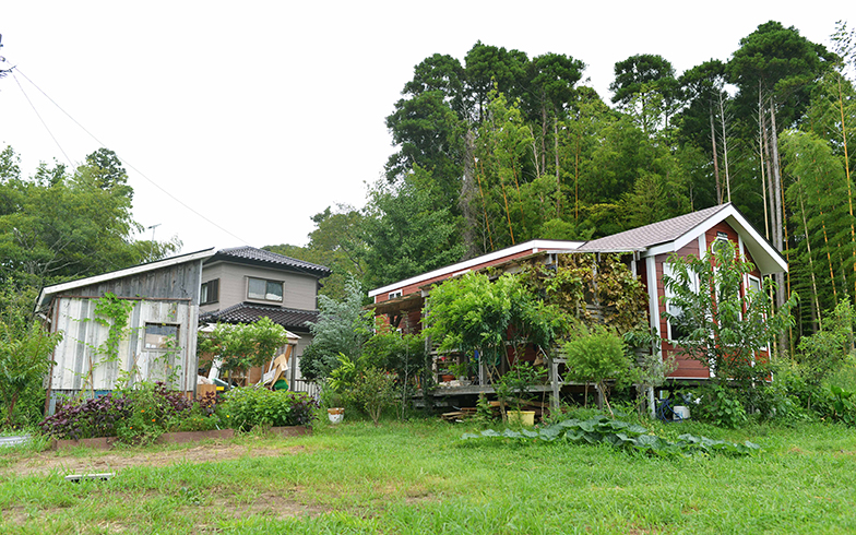 千葉県いすみ市にある鈴木菜央さんのタイニーハウス。家族4人で暮らしている(画像提供 鈴木菜央さん)