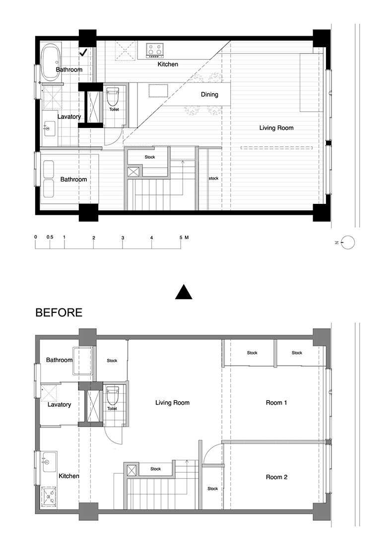 「家っていうと一般的に一生の買い物とか長く住む……というイメージですよね。でも、私たちのスタンスは、これから先の5~10年を過ごす場所。今、どんな暮らしがしたいか? を優先して物件を探しました」(画像提供/TAIMATSU)