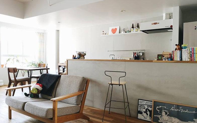 榊原さんの自宅リビングも好きなイメージ、好きなもので統一されている(写真提供/榊原さん)