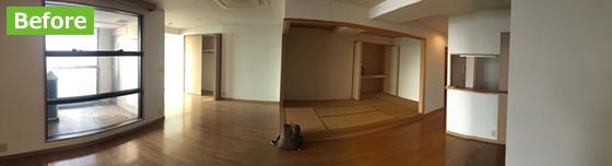 Beforeの写真。このように以前のマンションではよく見られる間取りと内装でした(写真提供/株式会社タムタムデザイン)