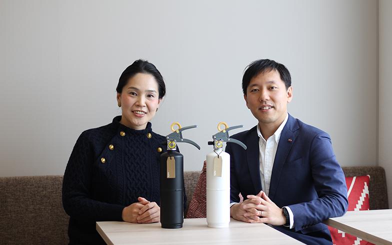 (左から)モリタ宮田工業 清水範子さん、北里憲さん(写真撮影/SUUMOジャーナル編集部)