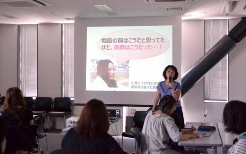 「防災ママカフェ」の様子(画像提供/スマートサバイバープロジェクト(SSPJ))