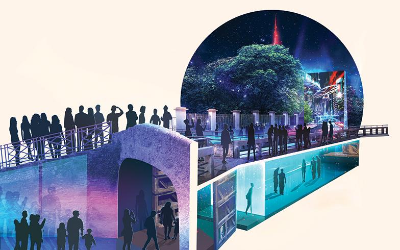 〈AQUA. Leonardo's Vision〉4月5日(金)~14日(日)10:00 ~ 22:00、入場無料 @Conca dell'Incoronata, via San Marco。最先端技術を駆使した映像と音響によって、水が持つ美しさやエネルギーを体験する空間展示(写真提供:ミラノサローネ)