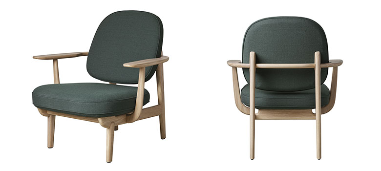 「Fritz Hansen」では10年以上デザインを手がけている人気デザイナーJaime Hayonの作品も。オーク材構造の後ろ姿が素敵(写真提供:Fritz Hansen)