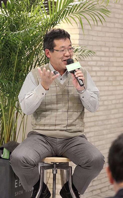 もう一人のトークゲスト、南房総で週末をDIY中心に楽しむ成田剛史さん(写真撮影/飯田照明)