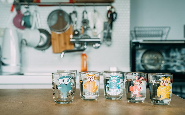 台湾製の古いグラス(写真提供/KRIS KANG)