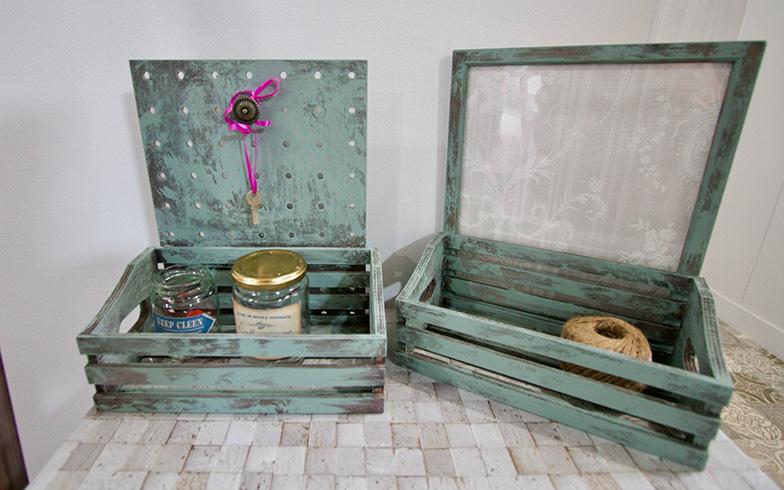 DIYで仕上げたボックス(写真撮影:井村幸治)