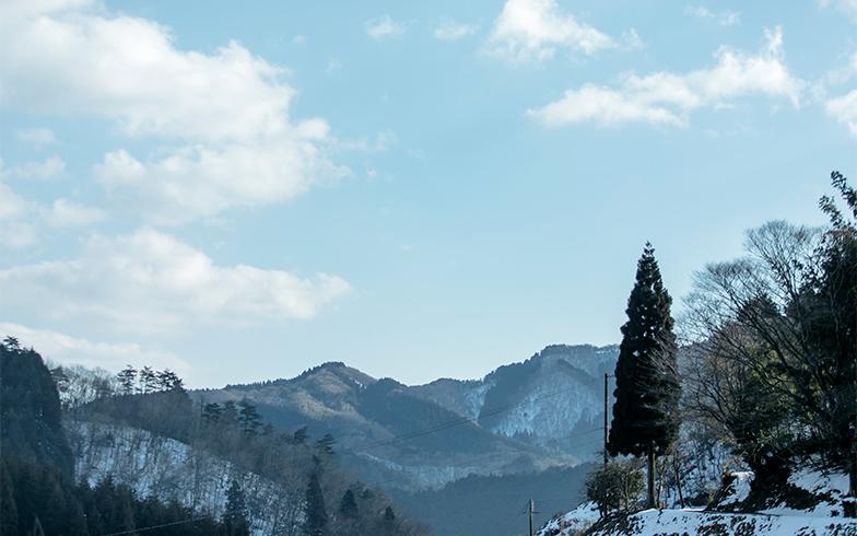 雲原地区は福知山市の北端、四方を山が囲む標高300~400mの盆地にある小さな集落。「他の地域をたくさん見たわけではないけれど、ここは田舎特有の囲い込み感が少なく居心地がいい。これまで暮らしたどこよりも大切にしたい場所」と吉田さん(撮影/中島光行)