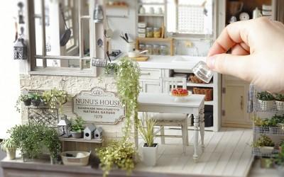 ミニチュア作家・田中智氏の世界におじゃまします! 1/12サイズの家はキッチンもスイーツもリアル