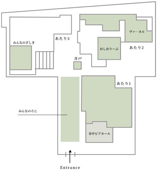 配置図(上野桜木あたりの公式ホームページより転載)