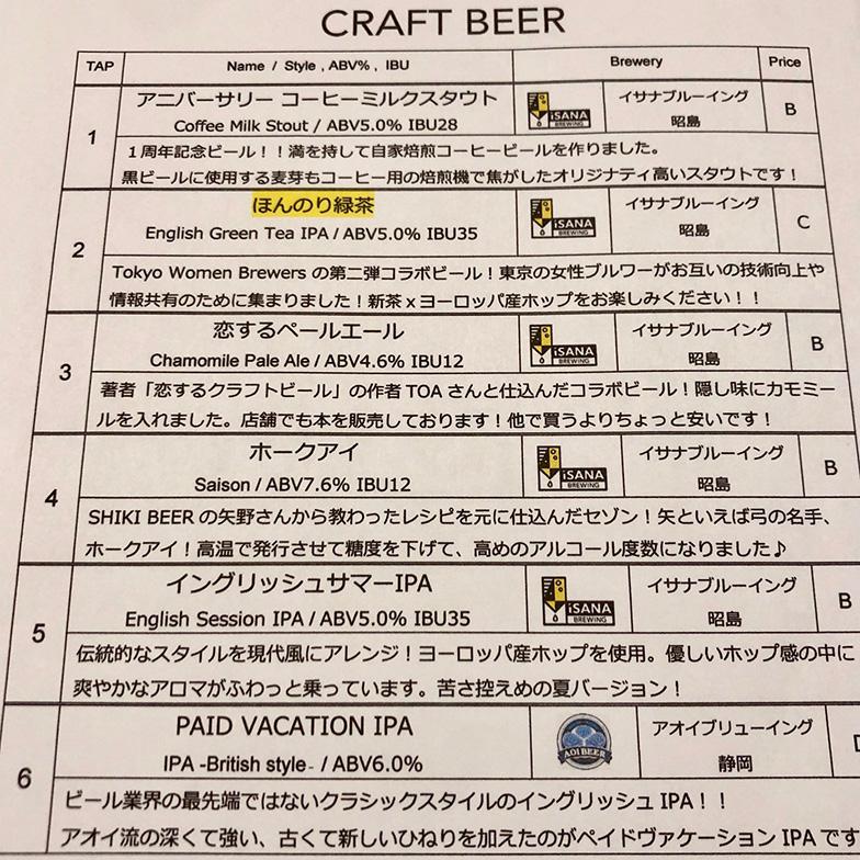 ゲストビールも含めて常時10種類のメニューを用意(写真撮影/SUUMOジャーナル編集部)