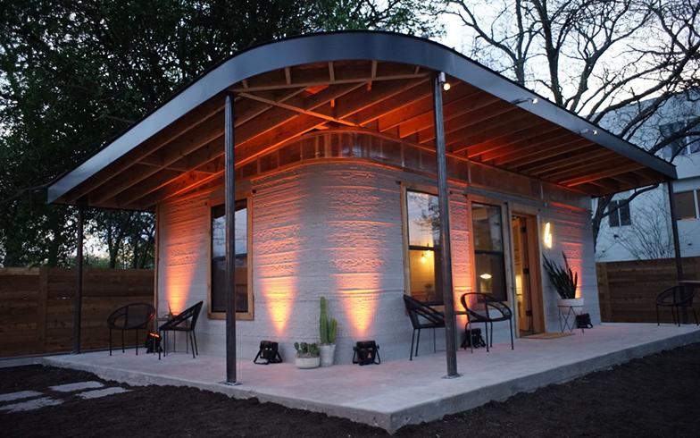米国NPO団体New Storyが2000棟以上開発途上国で建設してきた、3Dプリンター住宅(©Business Wire)