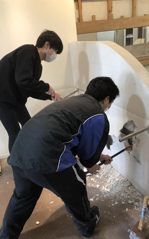 その空き店舗を多世代交流施設「マチノイズミ」として利用するために、茨城大生たちがDIYで改装した(画像提供/CANVAS合同会社)