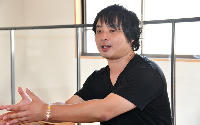 かつては自分もシェアハウスに住み、数々のシェアハウスの運営実績があるPeace Festa社長の越野さん(写真/水野浩志)