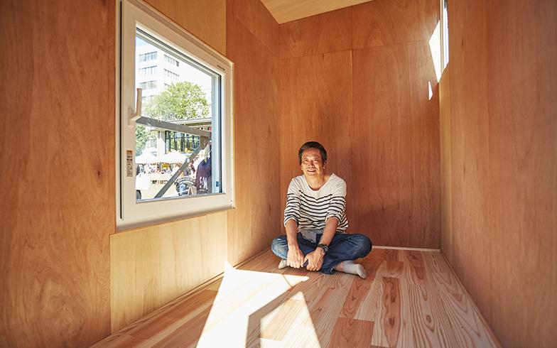 本体価格は150万円。取材時は外の温度(屋根表面温度)が34℃だったが、室内の温度は20℃に保たれていた(撮影/相馬ミナ)