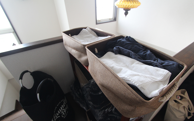 タオル、布団カバー等が用意されていました(写真撮影/SUUMOジャーナル編集部)