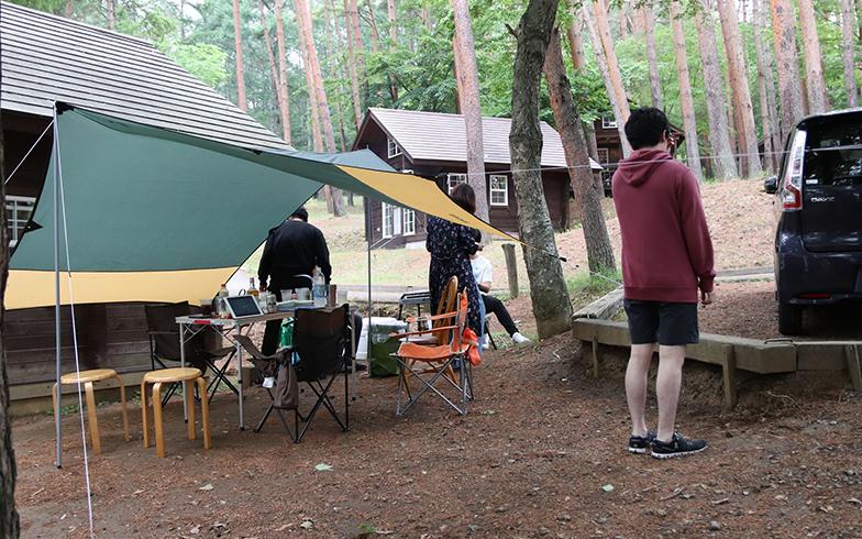 車ですぐのキャンプ場PICA八ヶ岳明野へ友人たちと (写真提供/夫)
