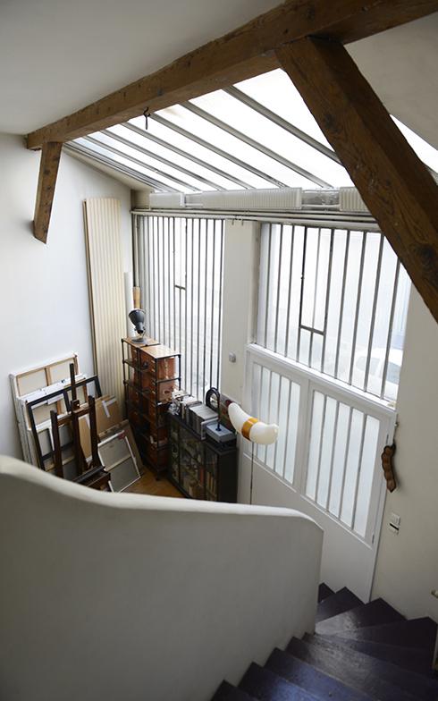 2階の浴室ルームからアトリエを見下ろすことができます(写真撮影/Manabu Matsunaga)