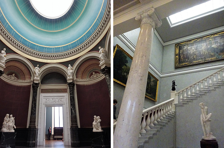 旧ナショナルギャラリーの内部(ドーム型の天井とホールの階段)