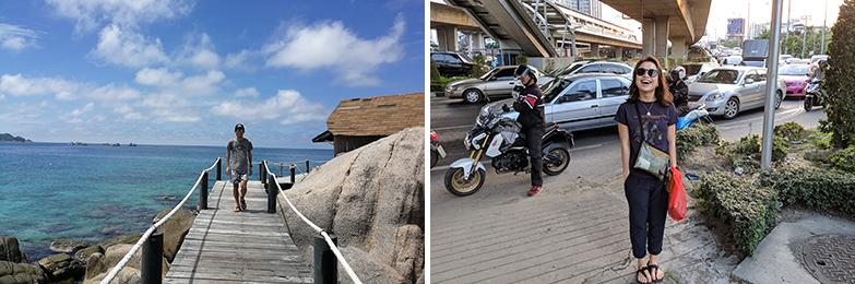 タイでは、平日はバンコクで仕事をし、休日にはピピ島やパタヤビーチでリゾートを満喫(画像提供/本人)