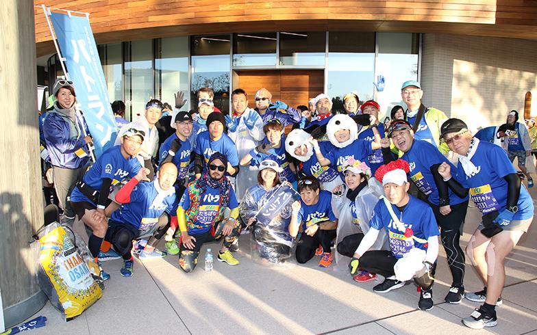 毎年、大阪マラソンに全国からパトランチームが集まる(画像提供/認定NPO法人改革プロジェクト)