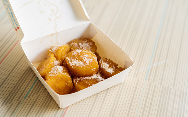 サツマイモの甘みが濃厚に引き立ち、手が止まりませんでした(写真撮影/KRIS KANG)