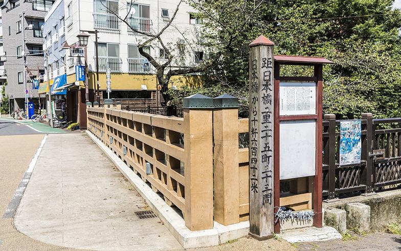 板橋宿という名称の由来となった、現在の「板橋」付近の様子。石神井川に架かる(画像提供/向こう三軒両隣)