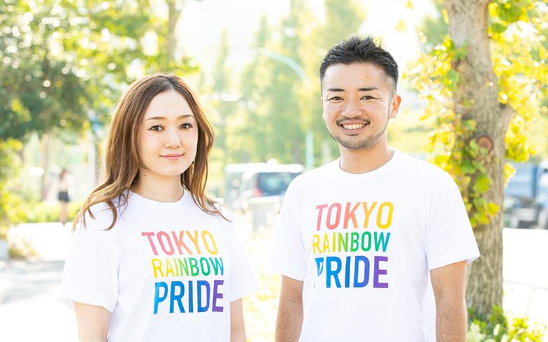 東京レインボープライド共同代表理事のトランスジェンダーの杉山文野(右)さん、レズビアンの山田なつみさん(左)(画像提供/東京レインボープライド)