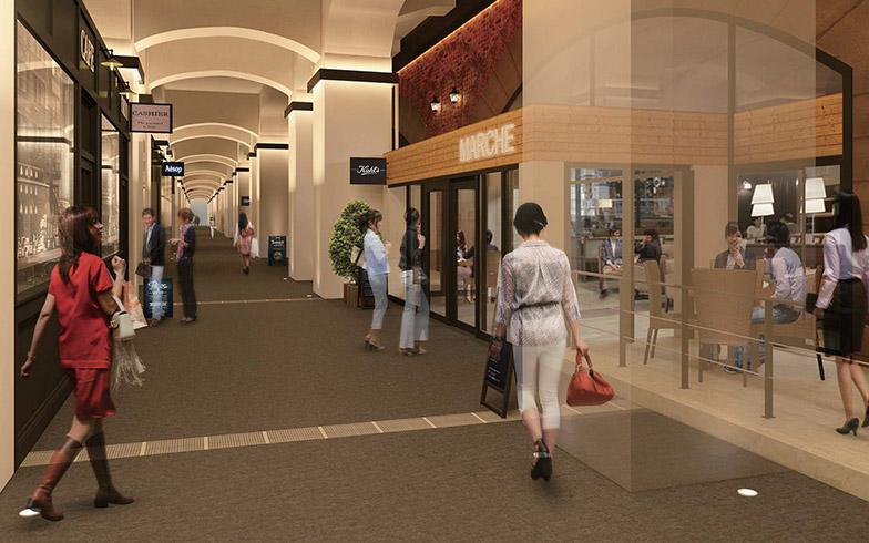 「日比谷OKUROJI」の館内予想図。バーの文化が根付くエリアであることから、さまざまなスタイルのバーもそろう予定(写真提供/ジェイアール東日本都市開発)