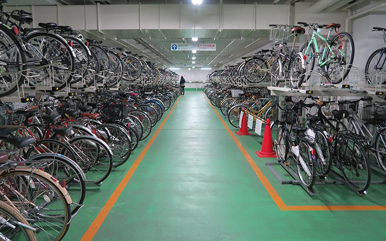御射山自転車等駐輪場(写真提供/疋田智さん)