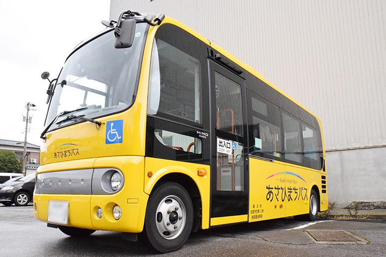 朝日町のコミュニティバス(写真提供/富山県朝日町)