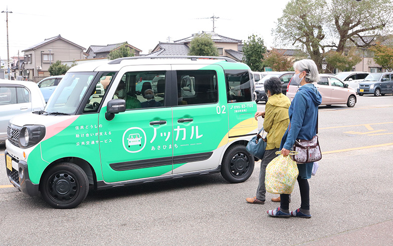 実証実験の様子(写真提供/富山県朝日町)