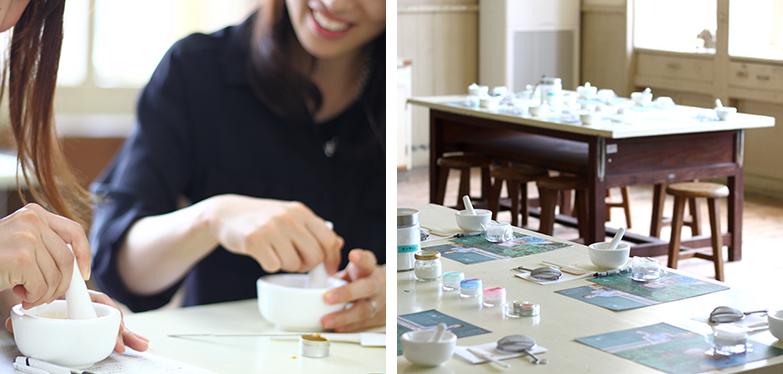 化粧品の原料が採掘される愛知県東栄町では「手作りコスメ体験」を提供(画像提供/さとふる)