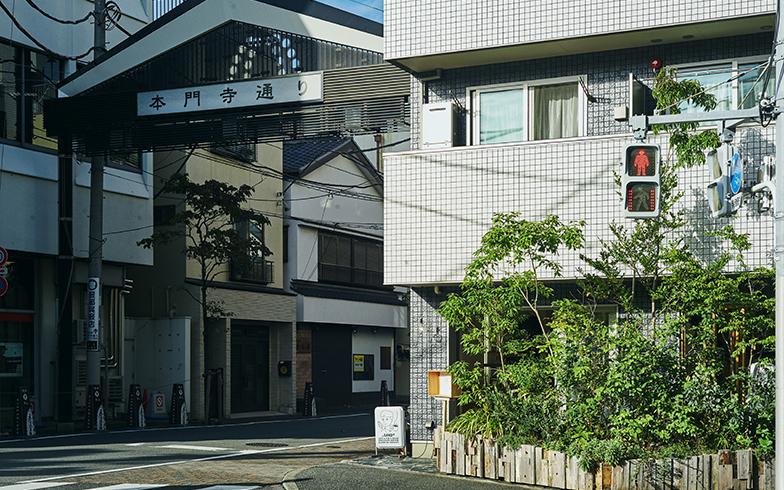 池上駅北口から池上本門寺へ向かって延びる池上本門寺通り商店会。旧参道にあたり、「SANDO(サンド)」(写真右側の建物)はその入り口にある(写真撮影/相馬ミナ)