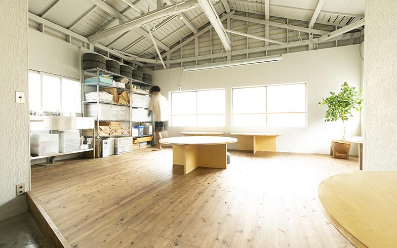 「たくらみ荘」のビフォーアフター。天井や壁を取り払って、さまざまな使い方ができる開放的な空間に(画像提供/東急)