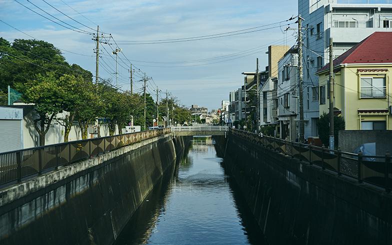池上本門寺近くを流れる呑川。散歩コースや小学校の通学路になっていて、駅から少し距離があるものの人通りは多い(写真撮影/相馬ミナ)