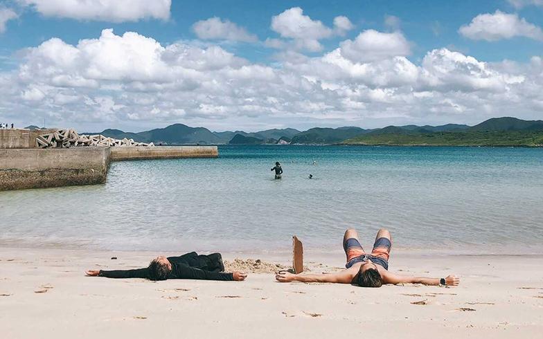 五島では、海でスノーケルや海水浴を楽しんだ(写真提供/Eさん)