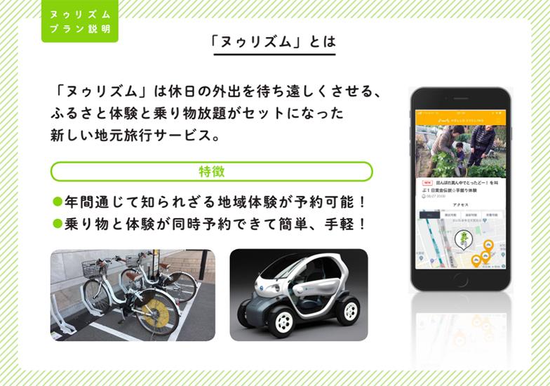 アプリ上で乗り物とツアーコンテンツを同時に予約(画像提供/「ヌゥリズム」チーム)