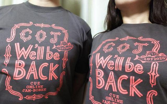 大泉洋らTEAM NACSが所属する事務所、CREATIVE OFFICE CUEが行うイベントのTシャツ(写真撮影/竹岡紗希さん)
