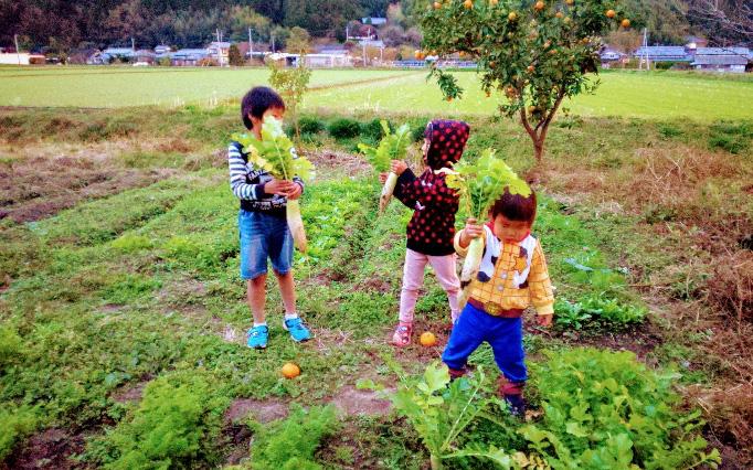 豊後高田市での暮らしを楽しむ橋本さんご家族(画像提供/橋本早織さん)