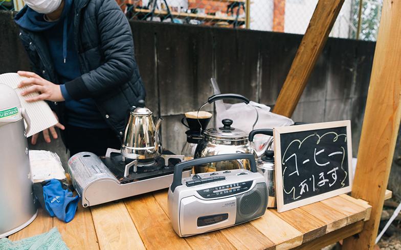 訪れた人にコーヒーがふるまわれることもある(写真提供/中垣由梨さん)