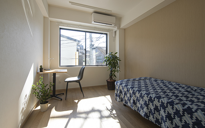シェアハウスエリア。個室はいたってシンプルで暮らしやすい(写真提供/ジェクトワン)