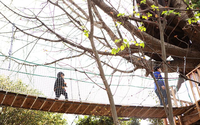 お子さんも大人も、吊橋を渡るときはドキドキしてうれしそう(写真撮影/片山貴博)