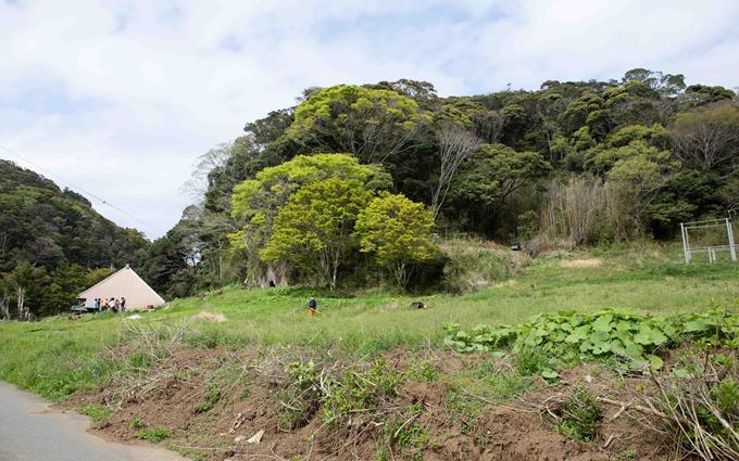 丘陵エリアにあるヤマナハウス。春を迎えて草木が動き出した里山(写真撮影/片山貴博)