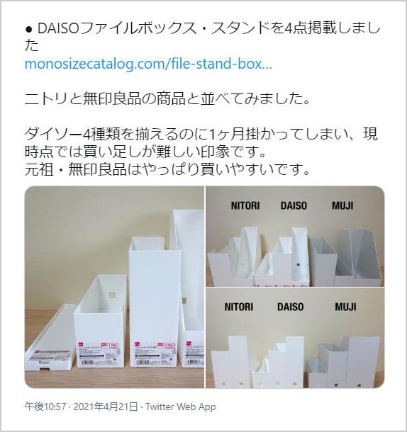 複数のメーカーのファイルボックスをシリーズでそろえ、比較した記事。商品の購入に時間がかかり、掲載までに1カ月かかったそう(写真提供/MONO SIZE)