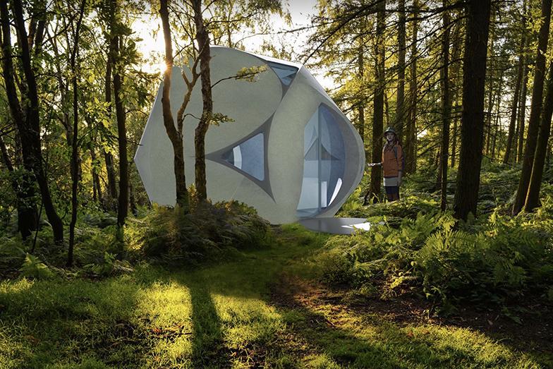 セレンディクスパートナーズ株式会社が、兵庫県を拠点に3Dプリンターで30坪300万円の住宅をつくる「Sphere(スフィア)プロジェクト」が2019年12月からスタート(写真/セレンディクスパートナーズ © Clouds Architecture Office)