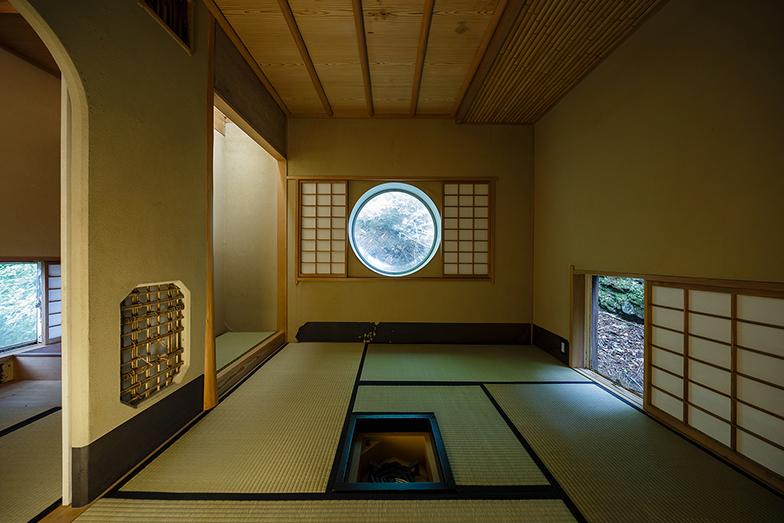 カプセルハウスKの茶室カプセル(写真撮影/山田新治郎)
