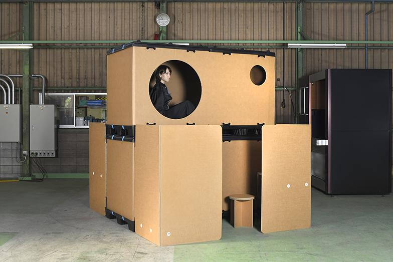 ダンボールスリープカプセル(画像提供/カプセル建築プロジェクト)