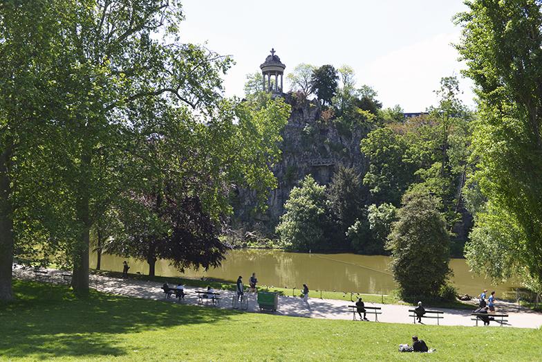ビュットショーモン公園は、パリ中でマラットさんの一番のお気に入りの場所(写真撮影/Manabu Matsunaga)