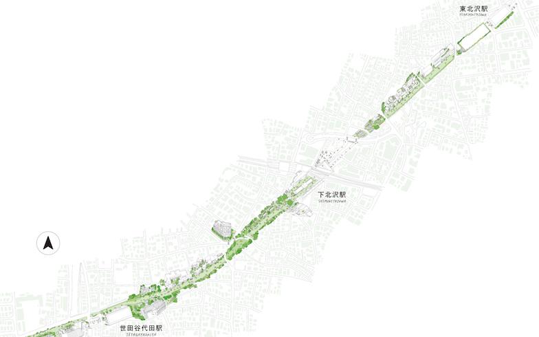 ほとんど交流がなかった3つのエリアが「下北線路街」で繋がる(画像提供/小田急電鉄)